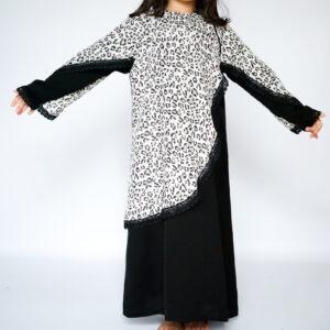 Leopard Print Abaya